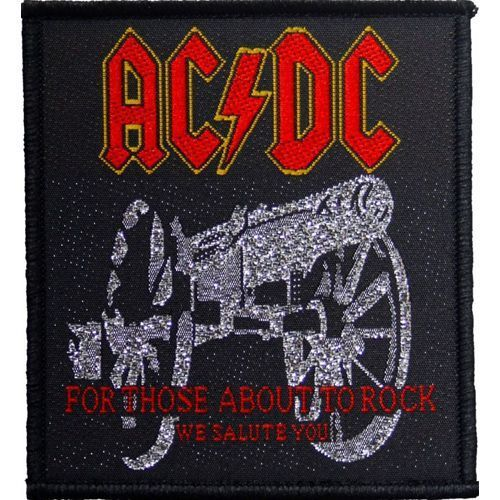 AC DC For Those About To Rock Woven Patch