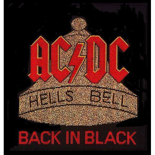 AC DC Hells Bells Woven Patch