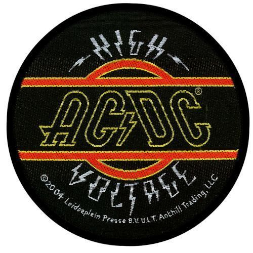 AC DC High Voltage Woven Patch