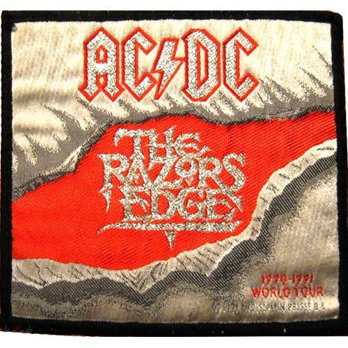 AC DC The Razors Edge Woven Patch