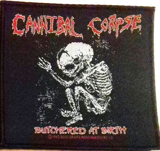 CANNIBAL CORPSE Butchered At Birth Skeleton Woven Patch