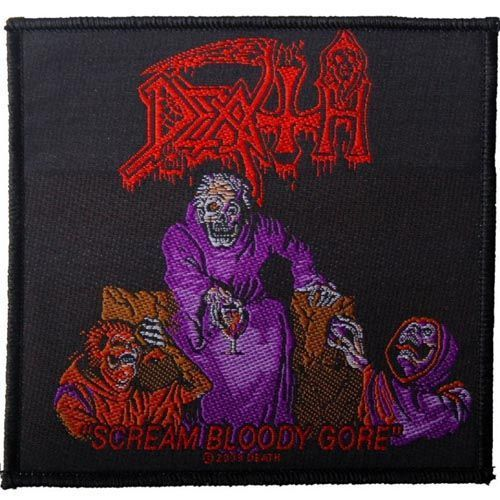 DEATH Scream Bloody Gore Woven Patch