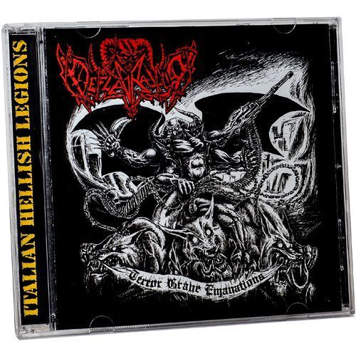 DEFLAGRATOR – NECROMANCER Terror Gave Emanations – Curse of Mortality Split CD