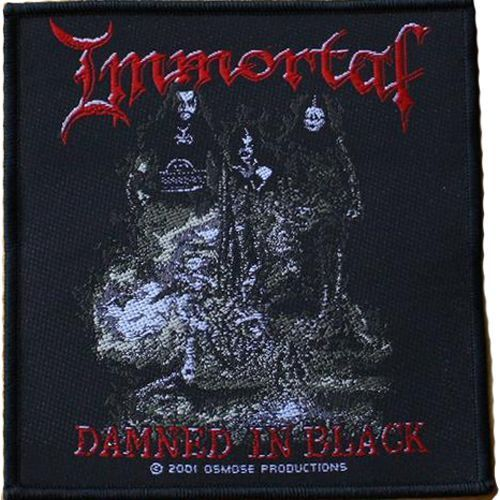 IMMORTAL Damned In Black Woven Patch