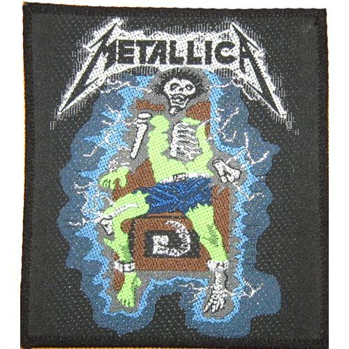 METALLICA Electric Chair Woven Patch