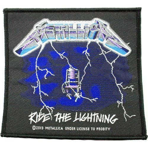 METALLICA Ride The Lightning Woven Patch