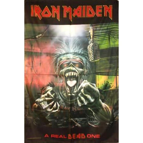 IRON MAIDEN A Real Dead One Flag Poster Flag