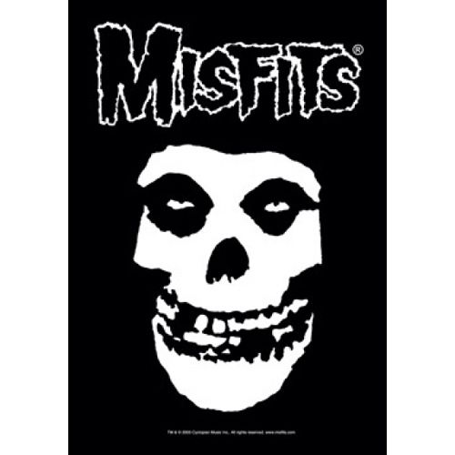 MISFITS White Letters Fiend Poster Flag