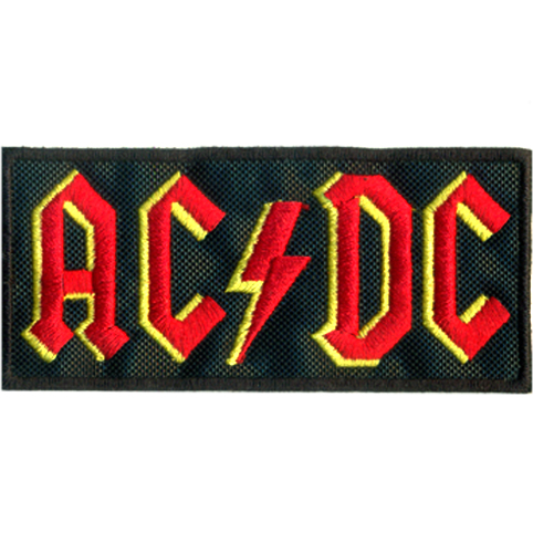 AC DC Logo Embroidered Patch
