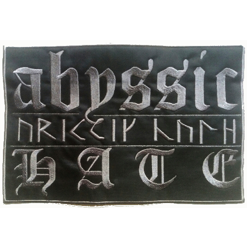 ABYSSIC HATE Back Patch embroidered